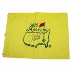 Lot 47 - Jordan Spieth Signed 2015 Masters Embroidered Flag - Full Signature in Middle