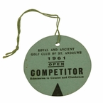 Lot 49 - 1961 Open Championship Competitor Badge - Royal Birkdale - #236 Arnold Palmer Winner
