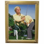 Lot 49 - Jack Nicklaus Signed Danny Day Artists' Proof 25/25 Giclee on Canvas Painting-Deluxe Frame