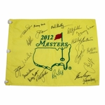 Lot 49 - 2012 Masters Flag Signed by 20 Winners - Nicklaus, Player, Mickelson, others JSA COA