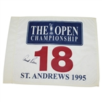 Lot 49 - Arnold Palmer Signed 1995 Open Championship at St. Andrews White Flag JSA ALOA