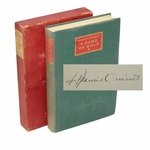 Lot 49 - Francis Ouimet Signed Ltd Ed 'A Game of Golf' 1932 Book #108 with Rare Original Cover