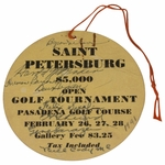 Lot 5 - 1941 St. Petersburg Open Ticket Multi-Signed - Horton, Guldahl, Demaret, Picard, Hogan, and more JSA COA