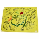 Lot 5 - CHAMPS FLAG - Undated Masters Embroidered Flag Signed by 34 Winners!