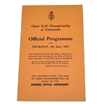 Lot 5 - 1931 Open Championship at Carnoustie Programme - Tommy Armour Winner