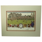 Lot 5 - Bobby Jones Signed 1930 Currier & Ives British Open @ St. Andrews - RARE! PSA #W06405