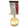 Lot 5 - 1954 Mexican National Open Tournament Champion Medal - Frank Stranahan