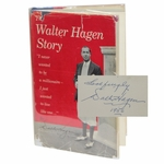 Lot 50 - Walter Hagen Signed and Inscribed 'The Walter Hagen Story' Book