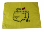 LOT #53: Phil Mickelson Signed 2006 Masters Embroidered Flag JSA COA