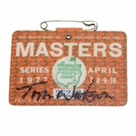 Lot 54 - Tom Watson Signed 1977 Masters Badge-First Time Offered In Auction- JSA COA
