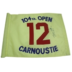 Lot 54 - Tom Watson Signed 1975 Carnoustie Flag - 12th Hole JSA ALOA
