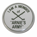 """Lot 54 - I Am A Member of """"Arnie's Army"""" Commemorative Pin with Crossed Clubs"""