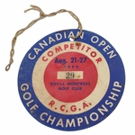 Lot 54 - 1950 Canadian Open Competitor Badge #29