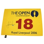 Lot 57 - Tiger Woods Signed 2006 Open Championship at Royal Liverpool Flag UDA SHO18512