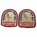 Lot 57 - Lot of Two International Four Ball - Gleneagles Scotland Patches