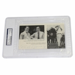 Lot 6 - Bobby Jones Signed Photo Page with Walter Hagen
