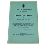 Lot 6 - 1935 Open Championship at Muirfield Programme - Alf Perry Winner