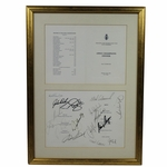 Lot 60 - 2000 Open Championship at R&A St. Andrews Dinner Menu - Past Champs Dinner W/17 Autographs