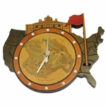 Lot 65 - Vintage Augusta National Clubhouse Wall Clock with Course Layout - Seldom Seen