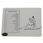 Lot 65 - Sam Snead Signed Augusta National Scorecard PSA/DNA #J48749
