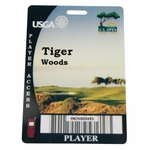 Lot 66 - Tiger Woods' Personal Player Badge from 2008 US Open at Torrey Pines - 14th & Last Major Won