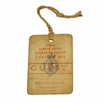 LOT #67: 1974 Open Championship Clubhouse Badge - Royal Lytham #625 - Gary Player Winner