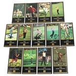 Lot 67 - Lot of Thirteen Signed GSV Masters Collection Cards 1968-1998 JSA ALOA