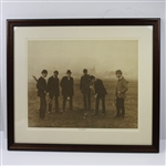"Lot 68 - 19th Century Photogravure of Golfing Scene Titled ""No Gimmies"" - Possible St. Andrews Backdrop-Framed to 27 1/2 x24"