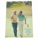 LOT #69: Jack Nicklaus and Tom Watson Signed Original 1986 Turnberry Poster JSA COA