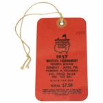 "Lot 7 - 1957 Masters Sunday Ticket #2997 - Doug Ford ""Calls His Score"" In Win-Top Condition"