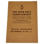 Lot 7 - 1948 Open Championship at Muirfield Programme - Henry Cotton Winner