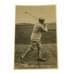 LOT #70: Harry Vardon Signed Post Card - Seldom Seen JSA COA