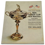 Lot 70 - 1965 Ryder Cup at Royal Birkdale GC Program-Byron Nelson U.S. Squad Captain