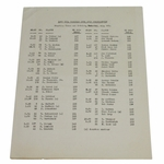 Lot 71 - 1945 Canadian Open Final Round Pairing Sheet - Byron Nelson 11th Consecutive Win