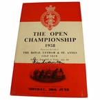 LOT #71: 1958 Open Championship Monday Program Signed by Peter Thomson - Royal Lytham JSA COA