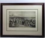 Lot 72 - The Golfers Print: A Grand Match Played Over the St. Andrews Links' - B & W By Wagstaffe