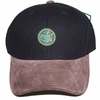 Lot 72 - Augusta National Members Black Circle Patch Hat with Brown Bill
