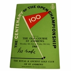 LOT #73: 1960 Open Championship Program Signed by Kel Nagle - St. Andrews JSA COA