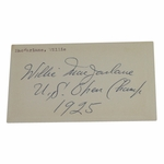 "Lot 73 - Willie MacFarlane(D-1961) Vintage Signed W/U.S. Open Champ-1925 Notation-""MINT"" Signature"