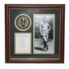 Lot 75 - Byron Nelson Framed Signed Photo and Medal Commemorating 'The Unforgettable Year'