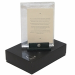 Lot 75 - Masters Tournament Photo Frame with Leather Stand - Original Box & Card