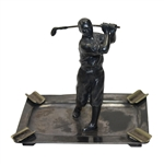 Lot 76 - Mounted Golfer in Ash Tray - Post-Swing