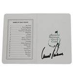 Lot 77 - Arnold Palmer Signed Augusta National Scorecard JSA ALOA