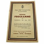 Lot 8 - 1937 British Open Program - Carnoustie - Henry Cotton Winner