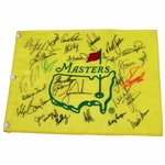 Lot 8 - MASTERS CHAMPS FLAG - Undated Signed by 29 Champions PSA/DNA #P12176