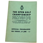 Lot 8 - 1948 Open Championship at Muirfield Programme - Henry Cotton Winner