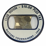Lot 8 - 1942 Masters Tournament Club House Badge-Byron Nelson Win