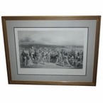 Lot 8 - 1850 The Golfers: A Grand Match Played Over the St. Andrews Links' - B & W Engraved By Wagstaffe