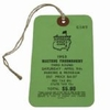 Lot 8 - 1953 Masters Ticket -Top Condition Example From Hogan's Win-66 Low Round Of Event