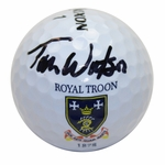 Lot 80 - Tom Watson Signed Royal Troon Logo Golf Ball